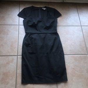 Banana Republic Black Stretch Sheath Dress Sz 14T